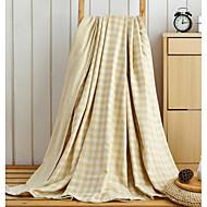 フランネル 格子 コットン100% 毛布