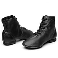 メンズ ジャズ 本革 ブーツ ダンスパフォーマンス フラットヒール ブラック