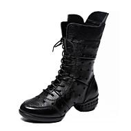 レディース ダンスブーツ ナパ革 ブーツ スプリットソール 屋外用 中空つ両面 ローヒール ブラック レッド 2.5~4.5cm
