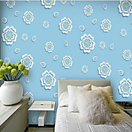 フラワー 3D ホームのための壁紙 現代風 ウォールカバーリング , PVC /ビニール 材料 自粘型 壁紙 , ルームWallcovering