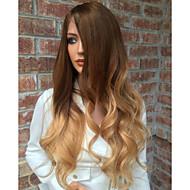 жен. Парики из натуральных волос на кружевной основе Бразильские волосы Натуральные волосы Лента спереди Бесклеевая кружевная лента 130%