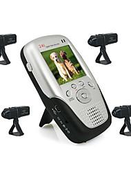 2.4ghz 2,5 polegadas quatro canais mp4 monitor do bebê com 4x câmera li-bateria recarregável (szq176)
