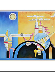 """Stretched Handmade Oil Painting with Stretched Bar by Wassily Kandinsky 20"""" x 24"""" SZH174 Free shipping"""