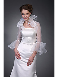 Long Sleeves Organza Bridal Jacket / Wedding Wrap (WSM0404)