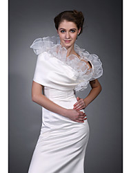 Sleeveless Satin  Organza Bridal Jacket / Wedding Wrap (WSM0415)