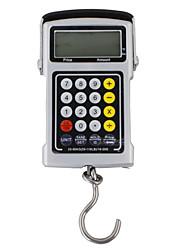 """1,9 """"échelle à crochet électronique lcd avec le temps / température / cassette / calculateur (50 kg max résolution / 20g)"""