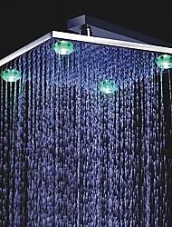 12 pulgadas a color cambiante cabeza de la ducha del LED con cuatro luces LED