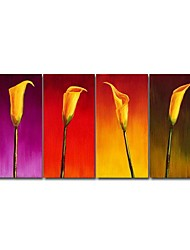 uitgerekt handgemaakte bloemen schilderij (0695-fa-ab-d-004)