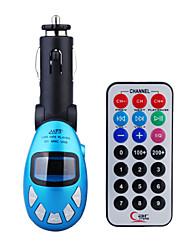 blauwe kleur auto mp3-speler met FM-zender