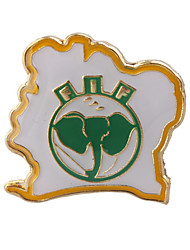 Ivory Coast  Football Metal Badge