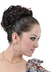 Synthetic Dark Coffee Hairpiece Short Curly Hair Wrap