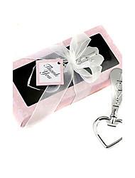 Herzform Silber Bieröffner in pink box