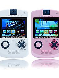 2.4 joueur de pouce mp4 jeu avec appareil photo numérique (2 Go, blanc / rose)