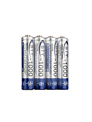 4 x AAA 1000mAh Ni-MH BTY 2500 Rechargeable Batteries (BYT(1000))