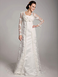 Lanting Bride® Sheath / Column Plus Sizes / Petite Wedding Dress - Chic & Modern / Elegant & Luxurious Vintage InspiredSweep / Brush