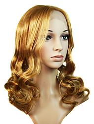 laço longo de 100% do cabelo humano da peruca cabelos loiros (0988-ns036)