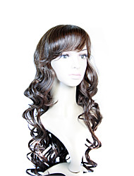Capless Extra Long Synthetic Brown  European Weave Hair Wig