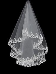 Un vals de la capa de longitud velo de novia (0498-TS100)
