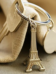 """Destination Wedding"" Eiffel Tower Keyring in Velvet Gift Bag"