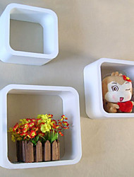 Wall Shelf - 3 pcs Floating Square Round-Angle Box