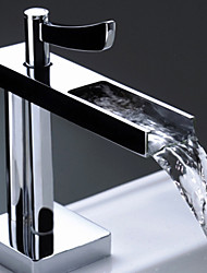 Single Handle Chrome Centerset Waterfall Bathroom Sink Faucet  1039-M3046