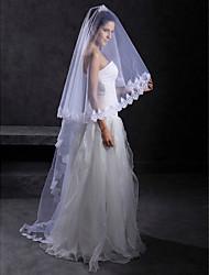 1 couche cathédrale beau voile de mariée