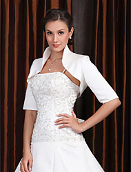 Half Sleeves Satin Bridal Jacket/ Wedding Wrap (66409)