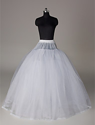 Unterhosen Abendkleid Bodenlänge 4 Nylon Tülle Weiß