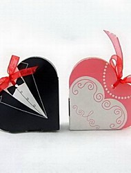 12 Piece/Set Favor Holder - Heart-shaped Card Paper Favor Boxes Non-personalised