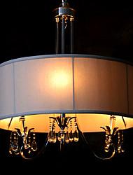 maishang® железа хром 3-люстра с лампой ткани тени (1069-GC-0168