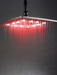 12 inch Brass Shower Head with Color Chaning LED Light
