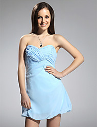 Sheath / Column Strapless Sweetheart Short / Mini Chiffon Cocktail Party Homecoming Dress with Criss Cross
