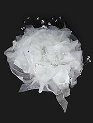 Elegant Organza With Rhinestone Round Wedding Bouquet /Bridal Bouquet
