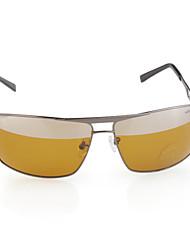 honglang UV400 поляризованные блики TAC-Guard сплава объектив вождения солнцезащитные очки (желтовато-зеленый цвет)