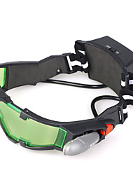Очки ночного видения со светодиодами, зелеными тонированными линзами с гравировкой