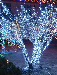 10м 6w 100-светодиодная лампа белого света строка на Рождество Хэллоуин фестиваль украшения (110/220В)