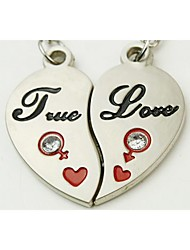 """""""Heart of ture love"""" Pendant Keychains (set of 6 pairs)"""