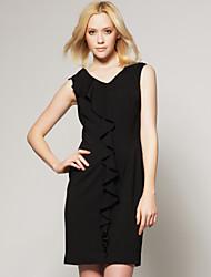 ts ruffle vestidinho preto / inspirado em desfile de moda