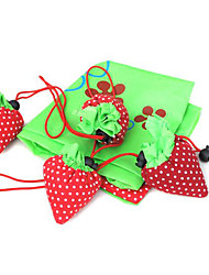 Collapsible Strawberry Reusable Shopping Bag Favor (Set of 12)