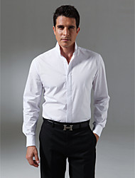 Custom Made Classic Mandarin Collar Fly Front Tuxedo Shirt