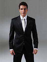 Custom Made Single Breasted Two-button Notch Lapel Side-vented Groom Tuxedo