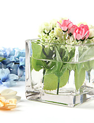 Table Centerpieces Square Glass Centerpiece  Table Deocrations