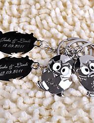 anillo de llave personalizada - bebé pingüino (juego de 6 pares)