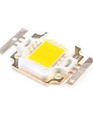 diy 10w 750-850lm 3000-3500K luz branca quente levou emissor quadrado (3 séries de 3 em paralelo, 30-33v)