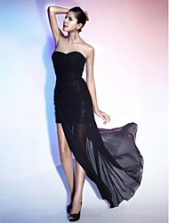 Sheath / Column Strapless Sweetheart Floor Length Asymmetrical Chiffon Evening Dress with Side Draping by TS Couture®