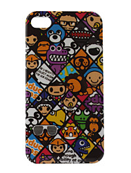 Lovely Cartoon Design Protective Back Case for iphone4