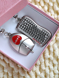 Personalized Key Ring - Keyboard and Mouse (set of 6 pairs)