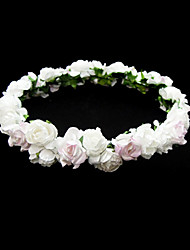 Lovely Paper Flower Wedding Flower Girl Wreath