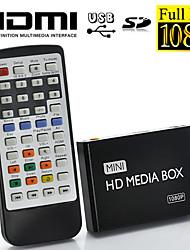 1080p full hd mini multi-media speler voor tv, het ondersteunen van USB, SD-kaart en hdd, HDMI-uitgang