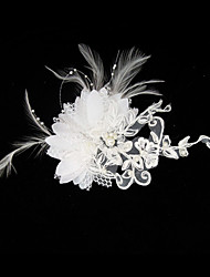 Women's Satin Lace Headpiece-Wedding Special Occasion Fascinators